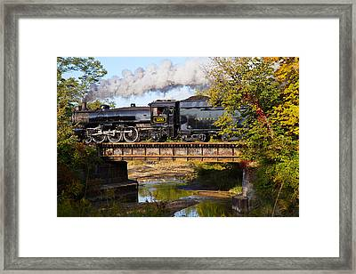 Steam Power In The Valley Framed Print