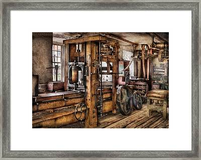 Steam Punk - The Press Framed Print by Mike Savad
