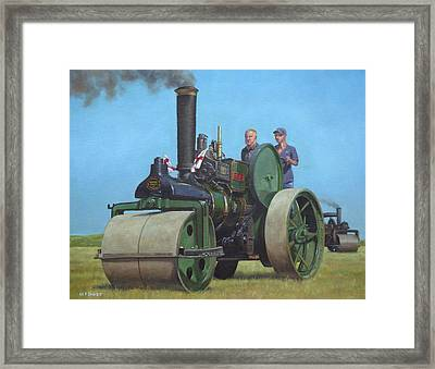 Steam Roller Traction Engine Framed Print by Martin Davey