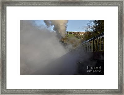 Steam Steam Steam Framed Print by Nichola Denny