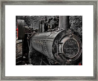 Steam Tractor Framed Print by Scott Hovind