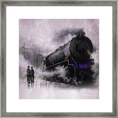 Steam Train Art 56u Framed Print