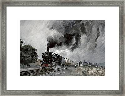 Steam Train At Garsdale - Cumbria Framed Print by John Cooke