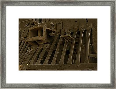 Steam Train Cow-pusher Framed Print
