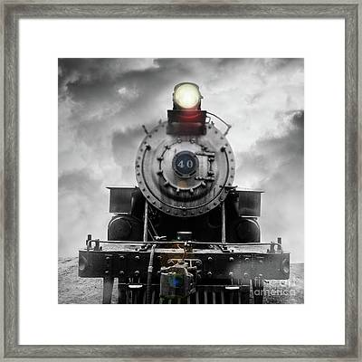 Framed Print featuring the photograph Steam Train Dream Square by Edward Fielding