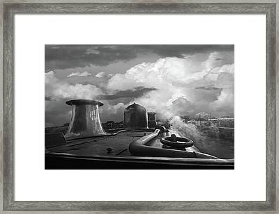 Steam Train Driver's View Framed Print by Gill Billington