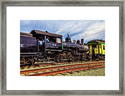 Steam Train Moving Passengar Car Framed Print