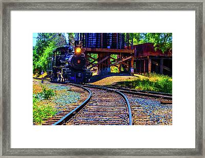 Steam Train No 3 On The Rails Framed Print by Garry Gay