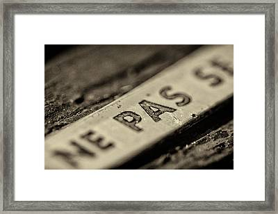 Steam Train Series No 35 Framed Print