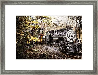 Steam Train's Coming Framed Print by Debra and Dave Vanderlaan