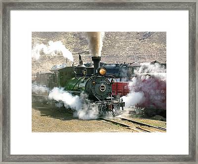 Steam Up Framed Print by Ken Smith