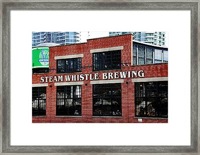 Steam Whistle Brewing Framed Print by Debbie Oppermann