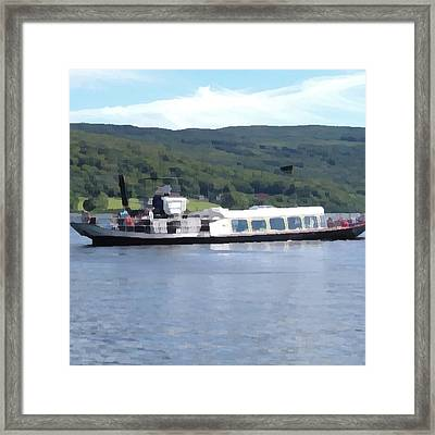 Framed Print featuring the photograph Steam Yacht Gondola by JLowPhotos