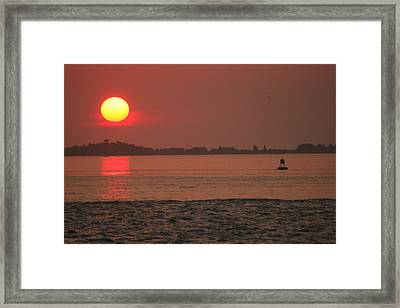 Steamboat Channel Sunrise Framed Print by Christopher Kirby