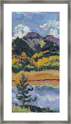 Steamboat Lake State Park Sand Mountain From Bridge Island Framed Print by Zanobia Shalks