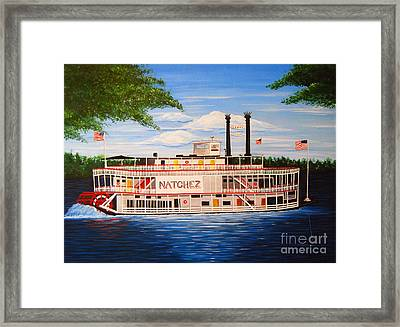 Steamboat On The Mississippi Framed Print