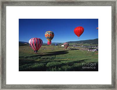 Steamboat Springs Balloon Festival Framed Print