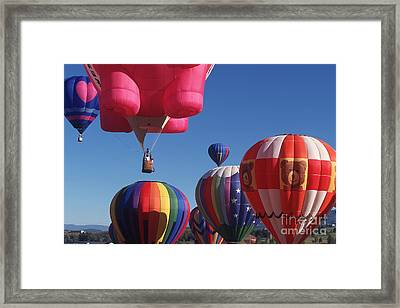 Steamboat Springs Balloons Framed Print by Stan and Anne Foster
