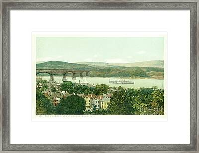 Steamers Waterfront And Ferrys - 07 Framed Print