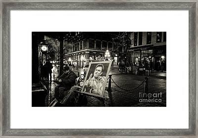 Steamin' Johnny Framed Print