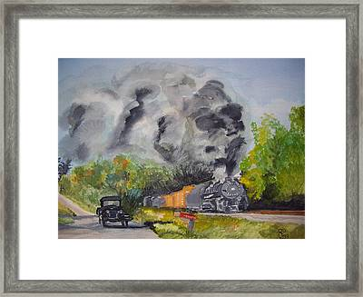 Steaming Along Framed Print