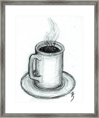Steaming Cup Of Coffee Framed Print by Bob Schmidt