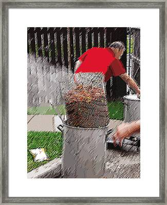 Steaming Mud Bugs For Falvor Framed Print