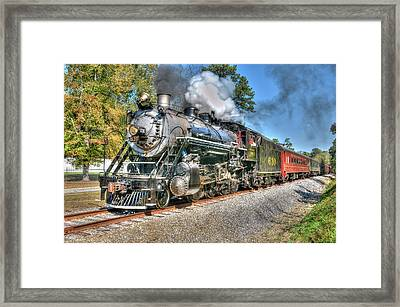 Steaming Framed Print