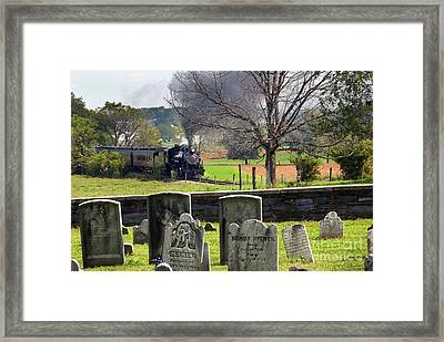 Steaming Past The Old Amish Cemetery Framed Print by Paul W Faust -  Impressions of Light
