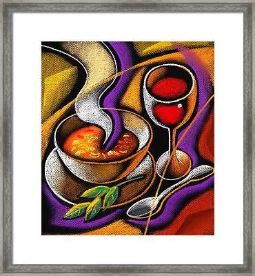 Steaming Supper Framed Print by Leon Zernitsky