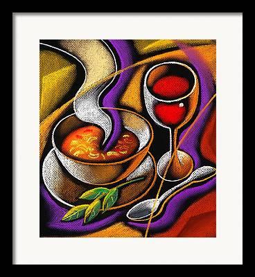 Supper Bowl Framed Prints