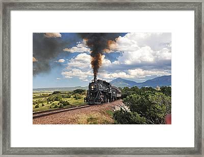 Steaming Towards La Veta Framed Print