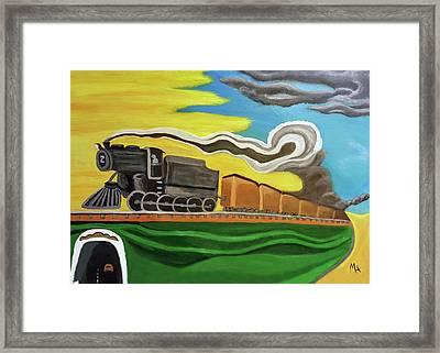 Steaming West Bound Framed Print