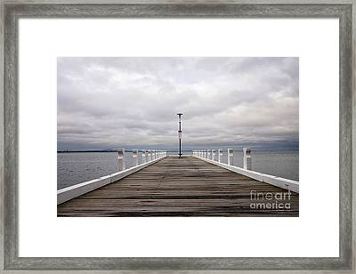 Framed Print featuring the photograph Steampacket Quay by Linda Lees