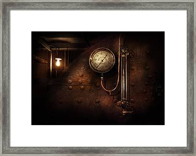Steampunk - Boiler Gauge Framed Print by Mike Savad