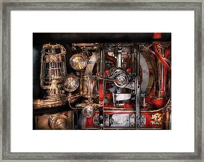 Steampunk - Check The Gauges  Framed Print by Mike Savad