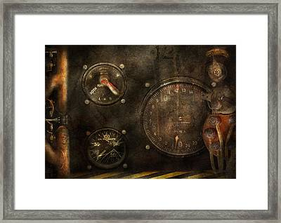 Steampunk - Check Your Pressure Framed Print by Mike Savad