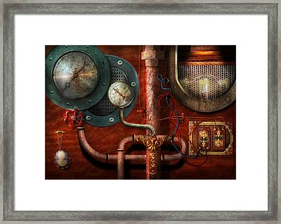 Steampunk - Controls Framed Print by Mike Savad