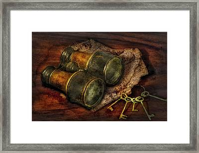 Steampunk - Extendo Optics  Framed Print by Mike Savad