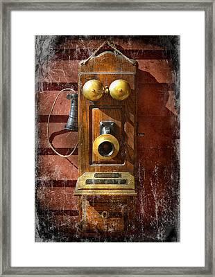 Steampunk - Phone Phace  Framed Print