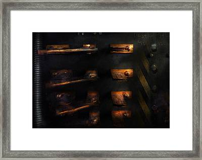 Steampunk - Pull The Switch Framed Print