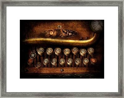 Steampunk - Remuneration Mechanism Framed Print by Mike Savad