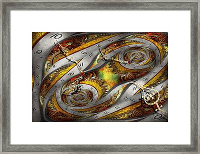 Steampunk - Spiral - Space Time Continuum Framed Print by Mike Savad