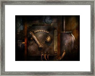 Steampunk - The Control Room  Framed Print by Mike Savad