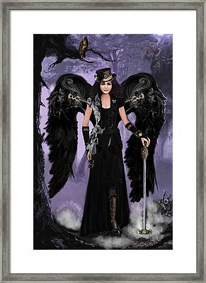 Steampunk Angel Framed Print by Melodye Whitaker