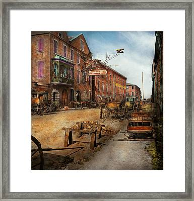 Steampunk - Archibald Mcleish's Vulcan Iron Works 1865 Framed Print by Mike Savad