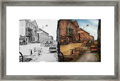 Steampunk - Archibald Mcleish's Vulcan Iron Works 1865 - Side By Side Framed Print by Mike Savad