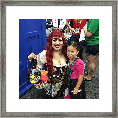 Steampunk Ariel #wondercon #wc2016 Framed Print