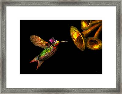 Steampunk - Bird - Apodiformes Centrifigalus Framed Print by Mike Savad