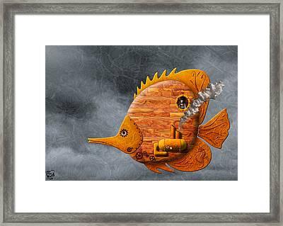 Steampunk Butterflyfish II Framed Print by Stephen Kinsey
